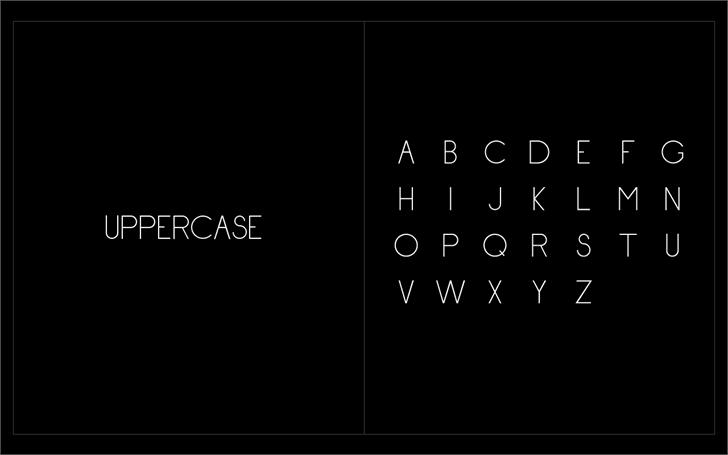 Hypeface - Reg Font screenshot design