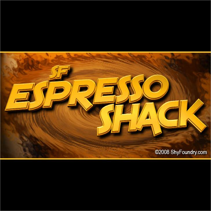 SF Espresso Shack Font screenshot