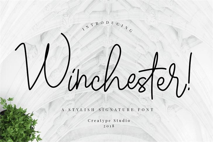 Winchester Font handwriting design