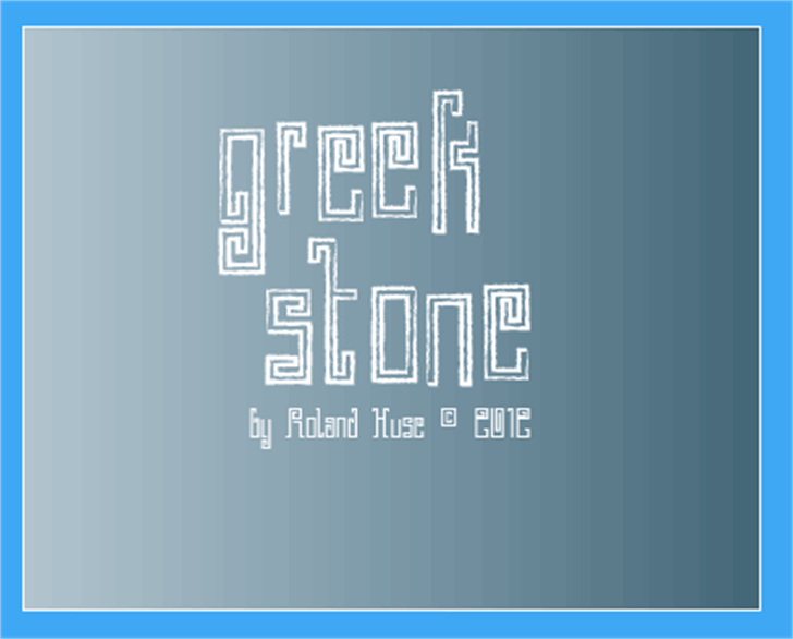 Greek Stone Font design screenshot