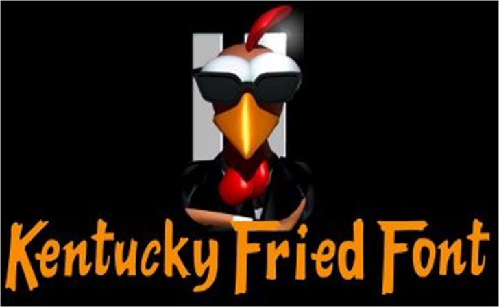Kentucky Fried Chicken Font cartoon poster