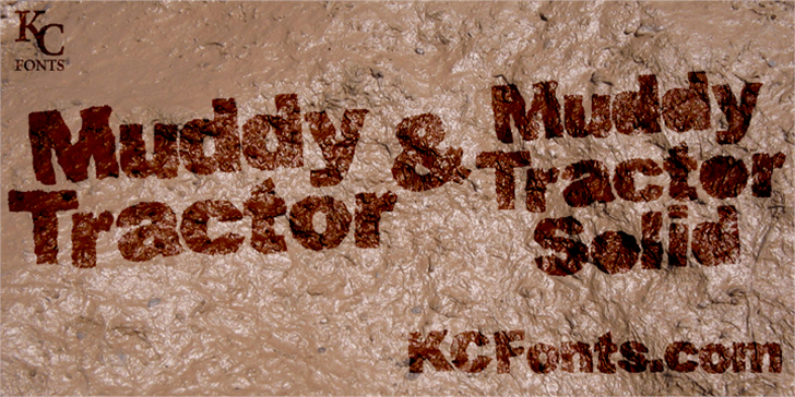 Muddy Tractor font by KC Fonts
