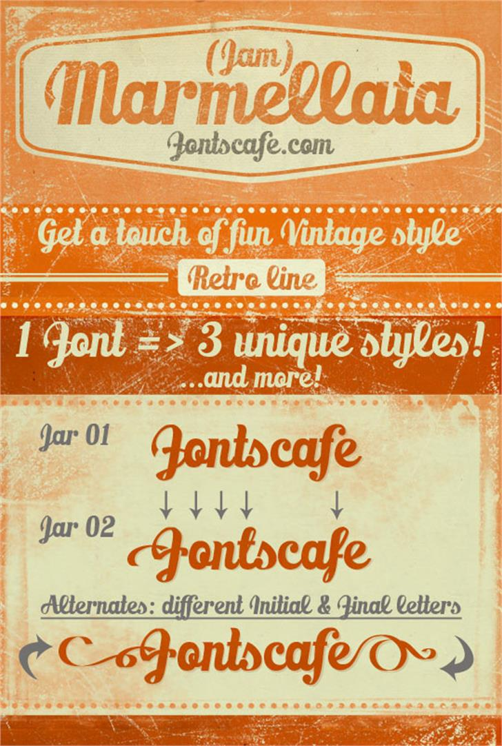 Marmellata (Jam)_demo font by FontsCafe