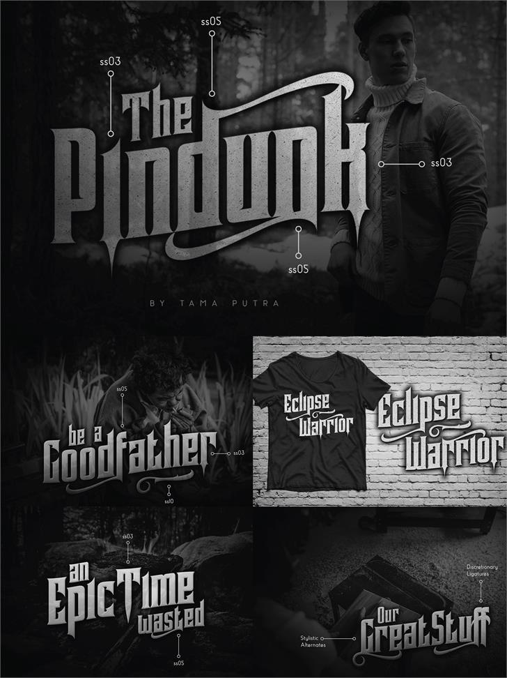 Pindunk Personal Use Font poster text