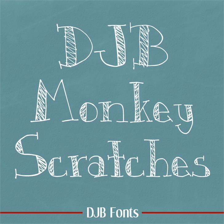 DJB Monkey Scratches Font blackboard handwriting
