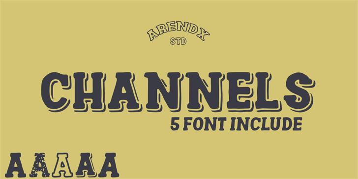 Channels Font poster