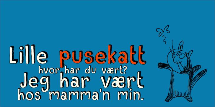 DK Pusekatt Font screenshot design