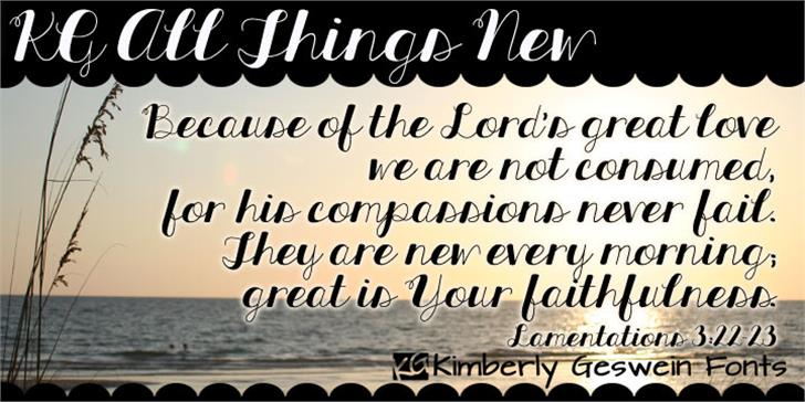 KG All Things New font by Kimberly Geswein