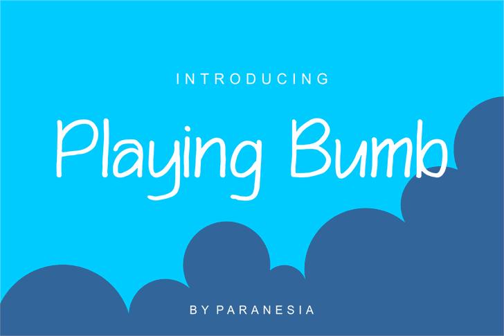 Playing Bumb Font screenshot design