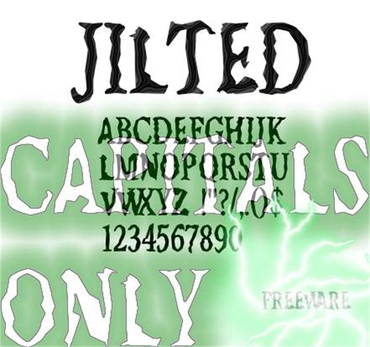 Jilted Font poster text