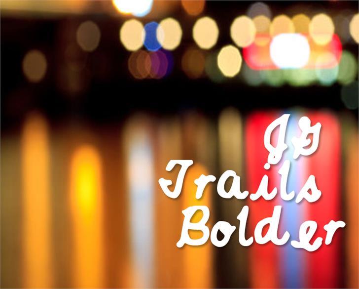 JGTrailsBolder Font light abstract