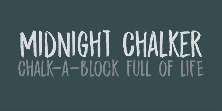 DK Midnight Chalker Font design typography