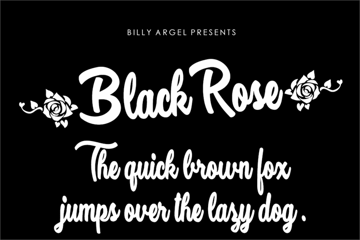 Black Rose Personal Use Font text design