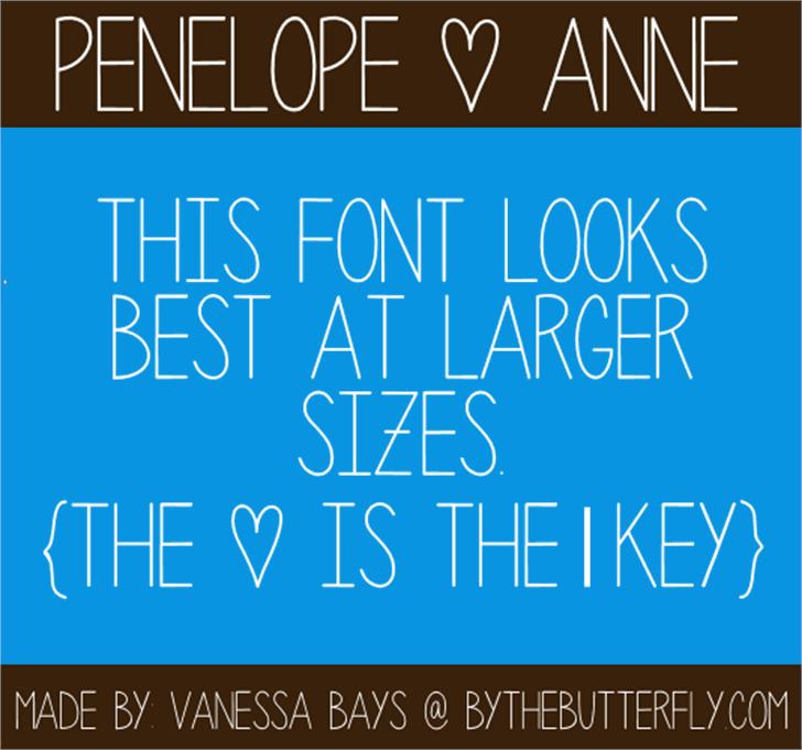 Penelope Anne font by ByTheButterfly