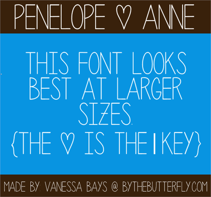 Penelope Anne Font screenshot design