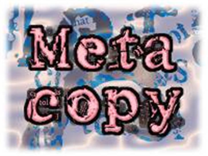 Metacopy font by Yosh's Laboratory