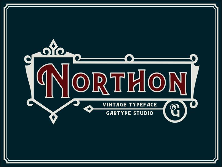 Northon [Demo] Font screenshot design