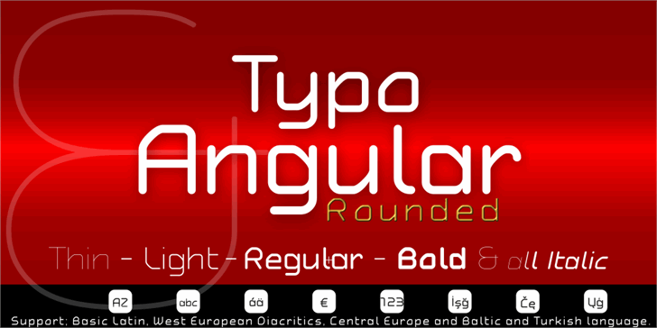 Typo Angular Demo Font screenshot design