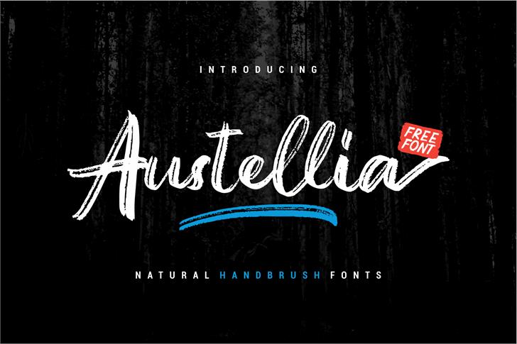 Austellia Font design poster