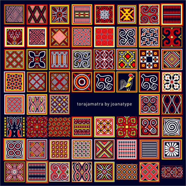 Torajamatra Font pattern motif
