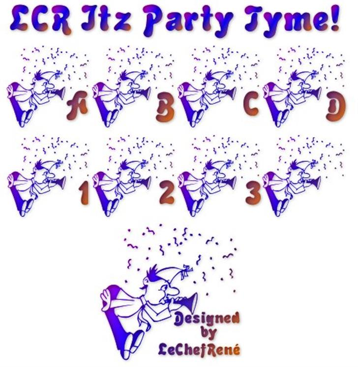 LCR Itz Party Tyme! font by LeChefRene