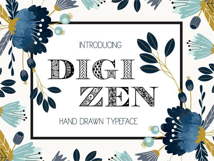Digizen Font book text