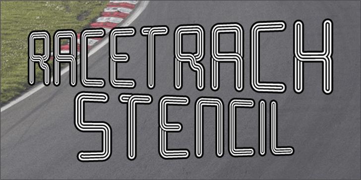 Racetrack Stencil Font plate dishware