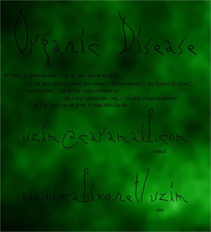 Organic Disease Font nintendo