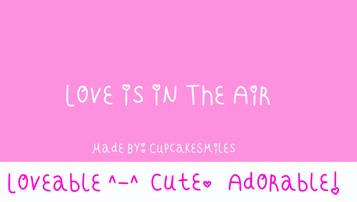 Love Is In The Air Font magenta pink
