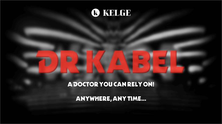 Dr Kabel Font screenshot poster