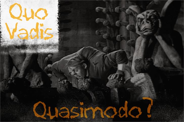 Quo Vadis Quasimodo Font poster person