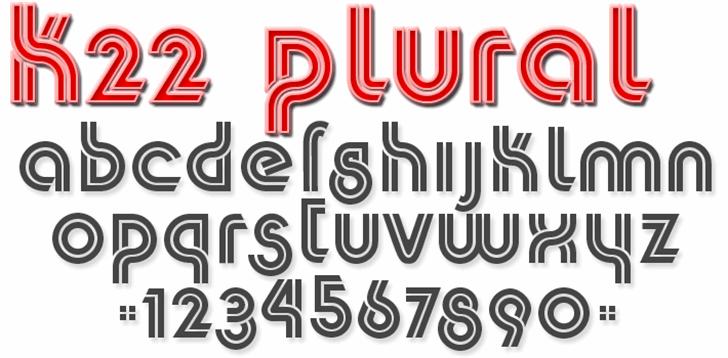K22 Plural Font design typography