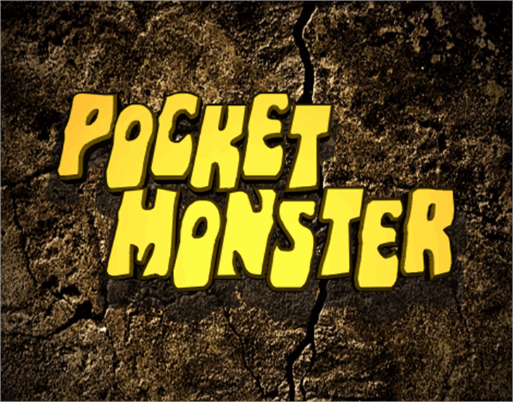 Pocket Monster Font text