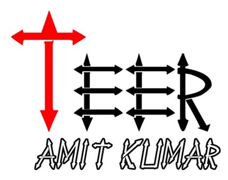 Teer Font design graphic