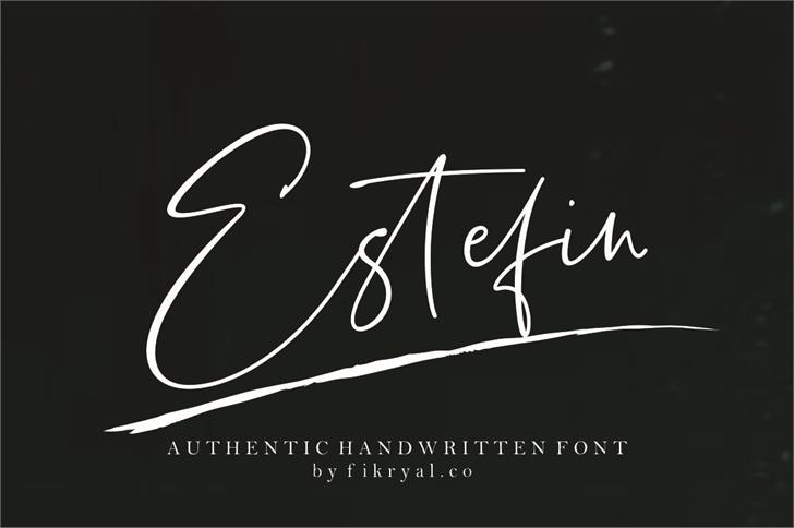Estefin Font handwriting design