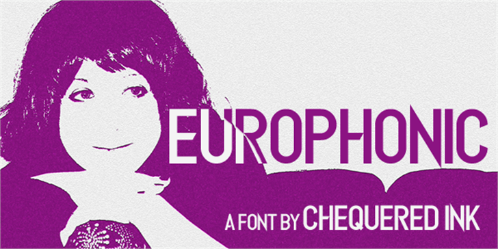 Europhonic font by Chequered Ink