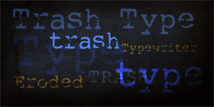 DK Trashtype Font handwriting font