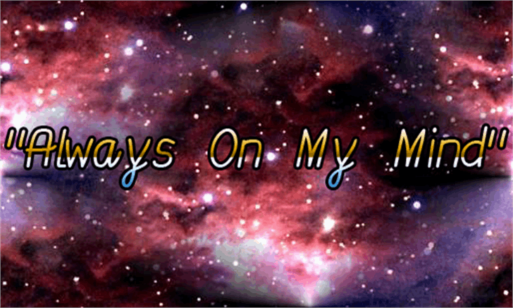 Always On My Mind Font fireworks outdoor object
