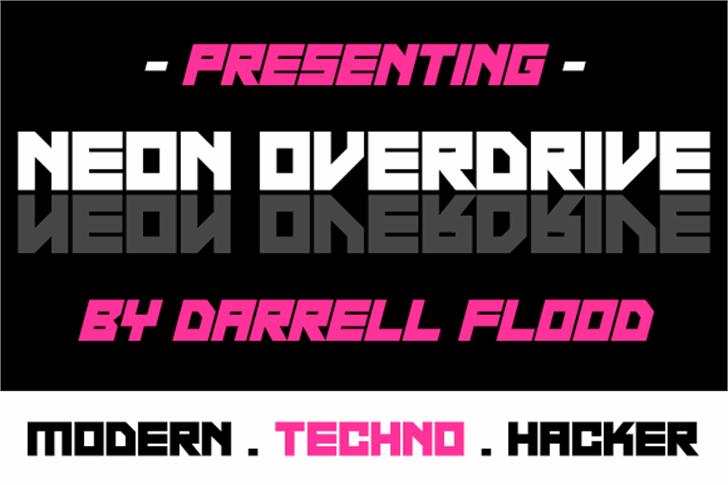 Neon Overdrive Font poster screenshot