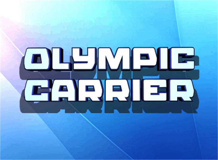 Olympic Carrier Font screenshot design