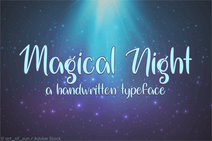 Magical Night Font poster