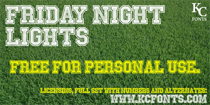 Friday Night Lights font by KC Fonts