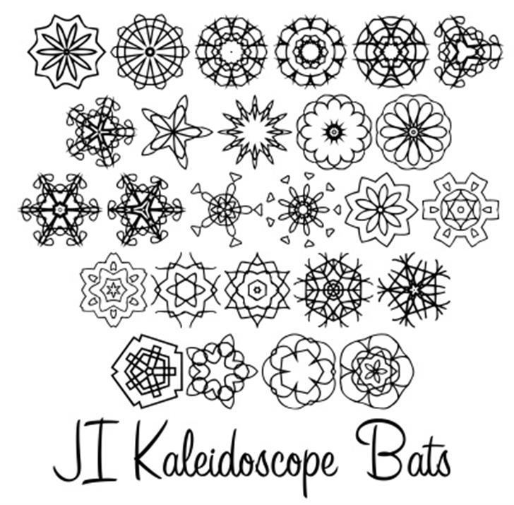 JI Kaleidoscope Bats font by Jeri Ingalls