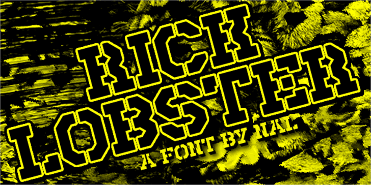 Rick Lobster Font design screenshot