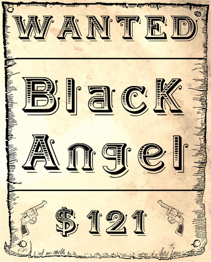 BlackAngel Font handwriting typography