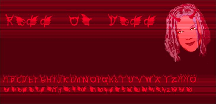 Redd or dedd Font screenshot graphic