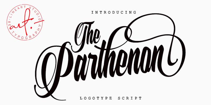 The Parthenon Font design