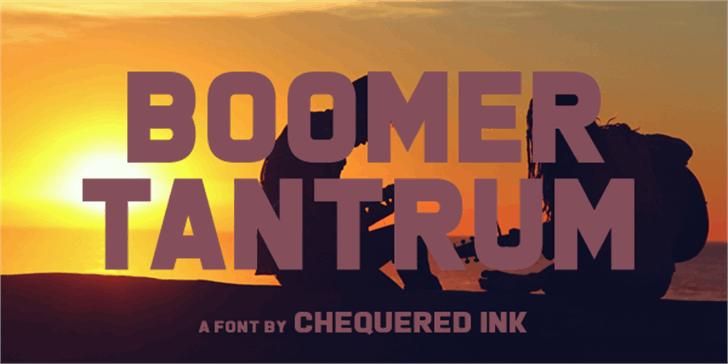 Boomer Tantrum Font poster design