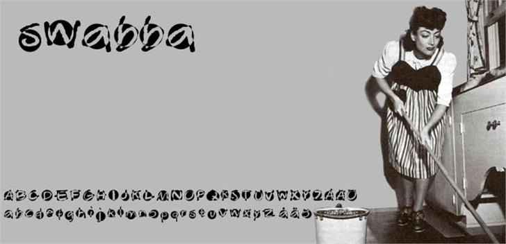 Swabba  Font screenshot cartoon