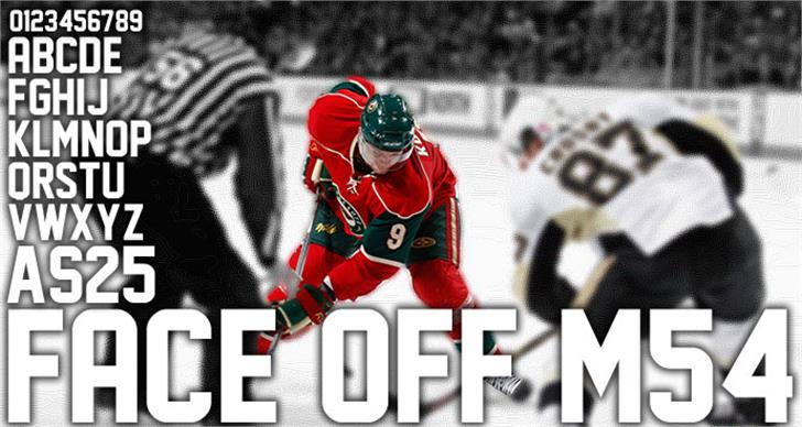 Face Off M54 Font hockey sports equipment